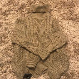 Super soft gray turtleneck sweater